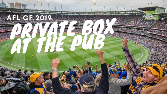 AFL GF Private Box at the pub